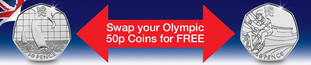 Olympic 50p Coin Swap