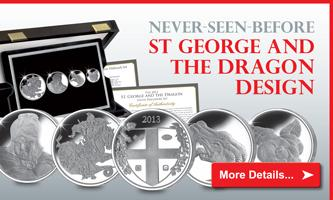 2013 St. George & the Dragon Silver Hallmark Set