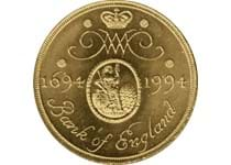 Issued in 1994 to mark the tercentenary of the Bank of England. Reverse features the Bank's Corporate Seal and Cypher of William and Mary. This is a nickel-brass £2 which is no longer in circulation.