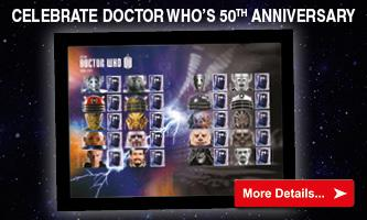 Framed Doctor Who Commemorative Stamp Sheet
