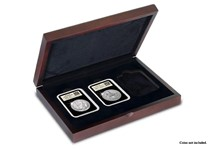 A Deluxe Wooden Presentation Case for the storage and display of three DateStamp TM Tamper-Proof capsules.  Case comes with presentation foam for 3x DateStamp™ capsules.es.