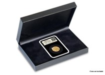 A Leatherette Presentation Case for storage and display of one DateStamp™ Tamper-Proof Capsule.