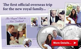 'The Royal Visit to New Zealand Silver Proof Coin Cover