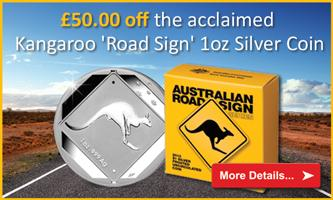 2013 Australia Kangaroo Road Sign 1oz Ag Coin
