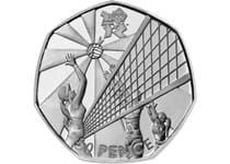 The Volleyball 50p was issued as part of a series of 29 Olympic 50ps in commemoration of London 2012, with each 50p featuring a different Olympic Sport.