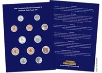 Build a full, comprehensive collection from your change with the Queen Elizabeth II Decimal Coin Type Collector Page.