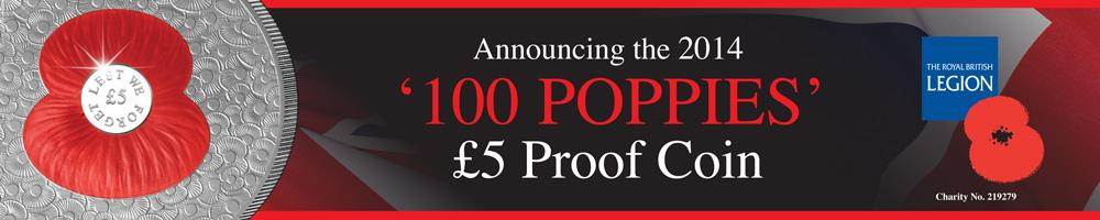 100 Poppies Proof Coin