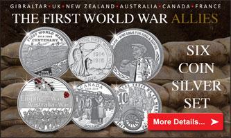 WWI Allies Silver Set