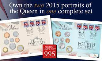 The Queen's Portrait Coin Cover Pair
