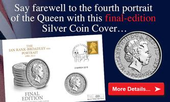 Say farewell to the fourth portrait of the Queen with this final-edition silver coin cover