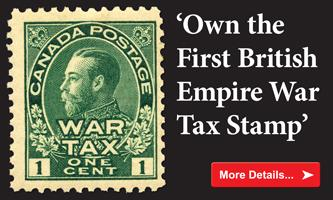 Ownt he First British Empire War Tax Stamp