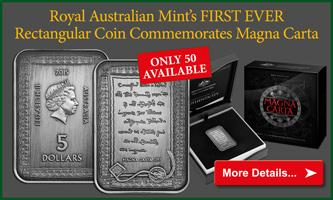 Own the brand new rectangular Magna Carta coin