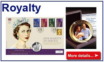 Royalty coins & stamps