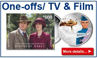One offs tv and films coins and stamps