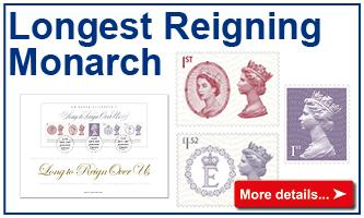 Longest Reigning Monarch Stamps