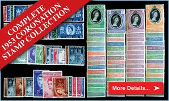 The Complete 1953 Coronation Stamp Collection
