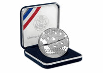 This 2012 Silver Proof Dollar celebrates the National Anthem of The United States of American - The Star Spangled Banner. Comes in original US Mint packaging with certificate of authenticity.
