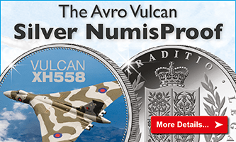 Own the brand new SILVER NumisProof featuring the Avro Vulcan XH558