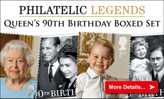 Secure the Philatelic Legends 90th Birthday Boxed Stamp Set