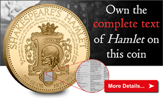 Shakespeare's entire Hamlet on your very own coin