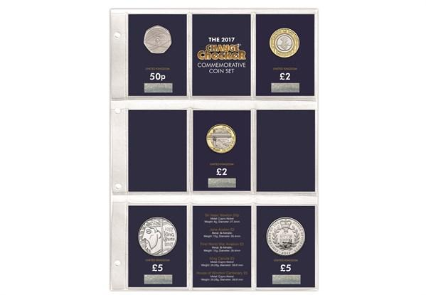 2017 Commemorative Coins in Wallet