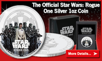 Own the Official Star Wars: Rogue One Silver 1oz Coin...