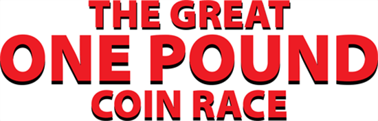 Great One Pound Coin Race Landing Page Header
