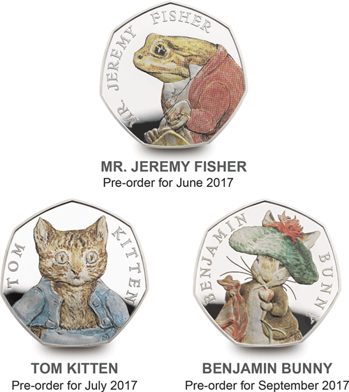 2017 beatrix potter 50p silver proof coin