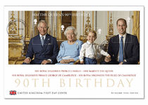 First Day Cover issued in celebration of the Queen's Birthday. Features the official UK Birthday Miniature Sheet. Postmarked on the first day of issue (21/04/16).