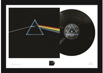 Limited Edition A2 Presentation Frame comprising the remastered Dark Side of the Moon vinyl album and Royal Mail's Dark Side of the Moon stamp. EL: 495.
