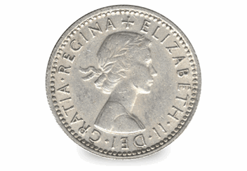 1961-Sixpence-Obverse