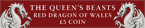 Queen's Beast Red Dragon of Wales Mobile Banner
