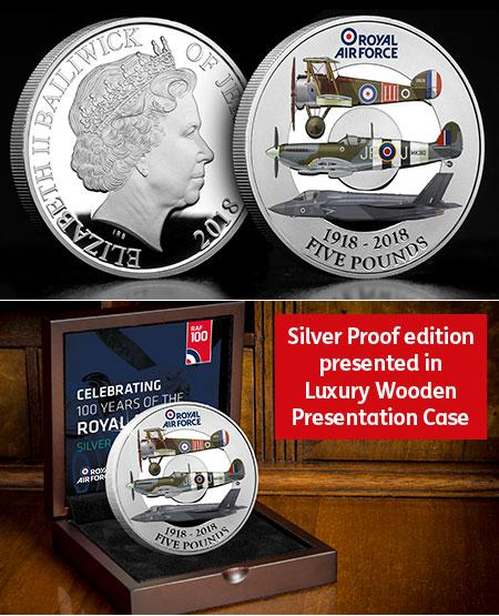 RAF Centenary Five Pound Silver Proof Coin