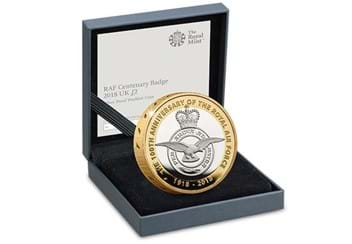 UK 2018 RAF 100Th Badge Silver Proof Piedfort Two Pound Coin In Display Case