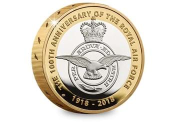 UK 2018 RAF 100Th Badge Silver Proof Piedfort Two Pound Coin Reverse