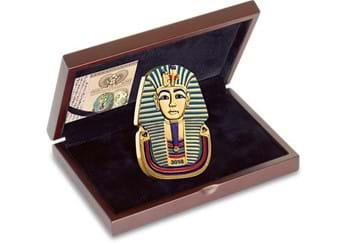 2018 Ancient Egypt Tutankhamun Gold Plated Coin In Display Case