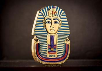 2018 Ancient Egypt Tutankhamun Gold Plated Coin Lifestyle
