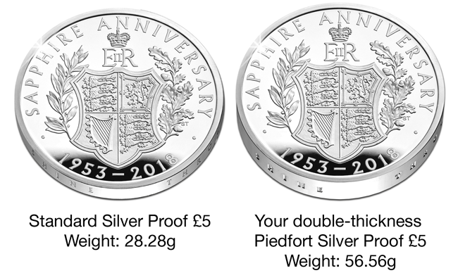 65Th Anniversary Coronation Qeii 2018 Uk 5 Silver Piedfort Coin Comparision Updated