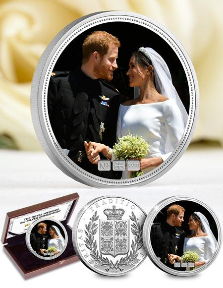 Numis Proof -Harry -and -Meghan -Royal -Wedding -2018-2oz -Silver -Commemorative -Landing -Page -Image -Desktop