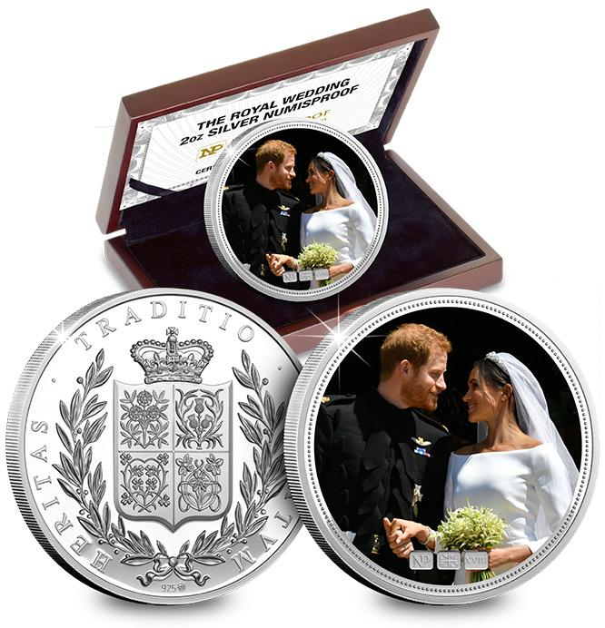 Numis Proof -Harry -and -Meghan -Royal -Wedding -2018-2oz -Silver -Commemorative -Landing -Page -Image -Mobile2
