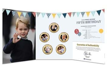 Dn Prince George Fifth Birthday Guernsey Gold Plated Five Coin Set Product Pages
