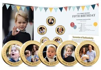 Dn Prince George Fifth Birthday Guernsey Gold Plated Five Coin Set Product Pages9