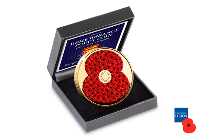 Rbl 2018 Poppy 5 For 5 Cuni Gold Coin Box