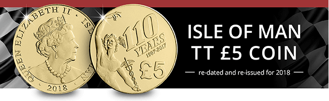 Isle Of Man Tt 5 Pound Coin E Mail Banner No Button 1