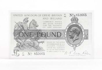 Warren Fisher One Pound Silver Banknote Front1