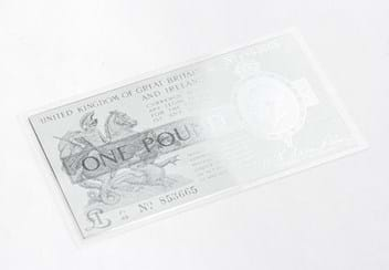 Warren Fisher One Pound Silver Banknote Front2