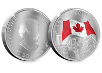 This coin has been issued by The Royal Canadian Mint and is struck from 2oz Pure Silver to a proof finish. It features first-of-its-kind undulating obverse and reverse with selective colour printing.