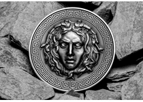 Struck from 3oz of Pure Silver with diamond gemstones, this brand new release features a realistic design of Medusa so intricate that you'd easily confuse this piece for a work of art.