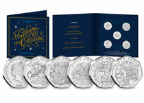 To celebrate Christmas 2019, a 50p coin collection has been issued depicting popular Christmas Pantomimes. These include, Cinderella, Snow White, Aladdin, Dick Whittington and Jack and the Bean Stalk.