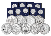 This House of Windsor Set features 9 CERTIFIED Brilliant Uncirculated coins that celebrate The Royal Family.